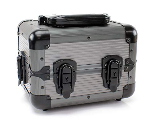 Versa Games 600pc Deluxe Poker Chip Case Carrier in Gray Color - Ultimate Poker Chip Carrier