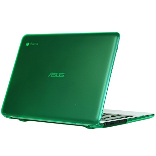 mCover mCover-ASUS-C201PA-11.6-Green iPearl Hard Shell Case for 11.6 ASUS Chromebook C201 Series Laptop - Green