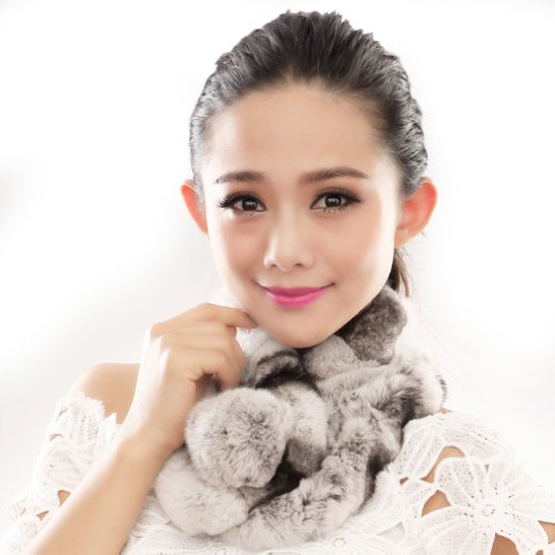 URSFUR Warm Women's Rex Rabbit Fur Scarves Scarf Multicolor for sale  Delivered anywhere in USA
