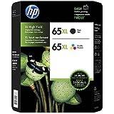 HP 65XL High-Yield Black and Tri-Color Original Ink Cartridge combo, 2/Pk