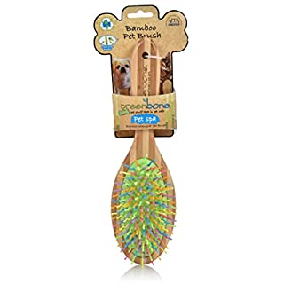 Greenbone All Natural Bamboo Pet Grooming Brushes - Made from Sustainable Materials (Slicker Brush)