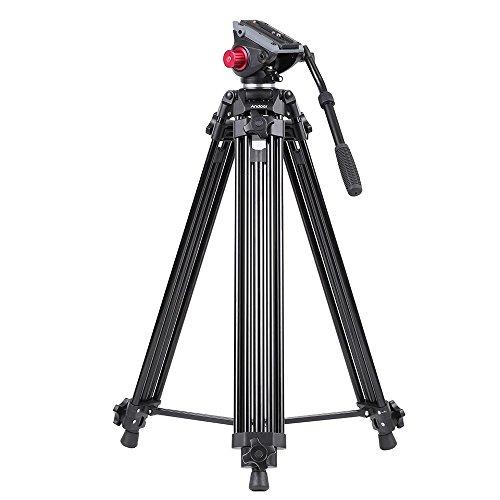 Andoer プロ用 三脚+パノラマ三脚液圧ヘッド キット 軽量コンパクト アルミ製 最大高さ72in 最大負荷容量8Kg 旅行用三脚 Canon Nikon Sonyカメラ・ビデオカメラ用 キャリングバッグ付きの商品画像