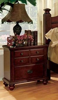 - Furniture of America CM7083N Gabrielle Ii Cherry Nightstands
