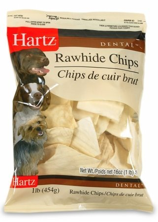 Hartz Rawhide Chips - Hartz 81271 1 Lb Dental™ Rawhide Chips