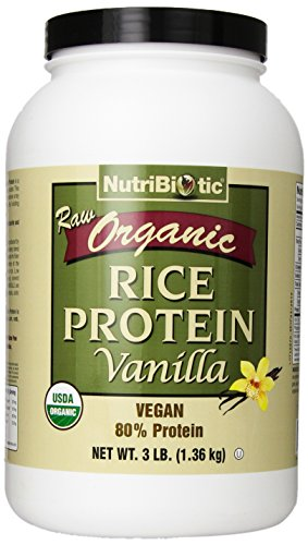 (Nutribiotic Organic Rice Protein, Vanilla, 3 Pounds)
