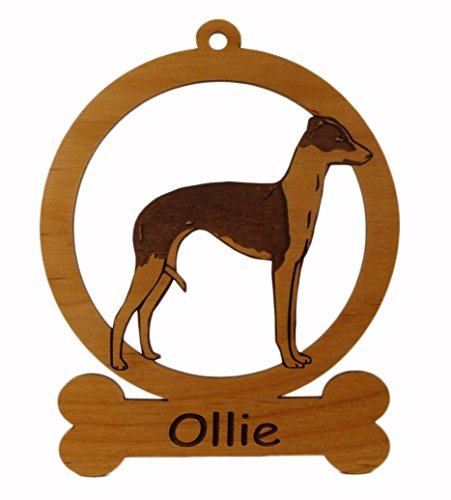 Italian Greyhound Standing Dog Ornament 083406 Personalized With Your Dog's Name ()