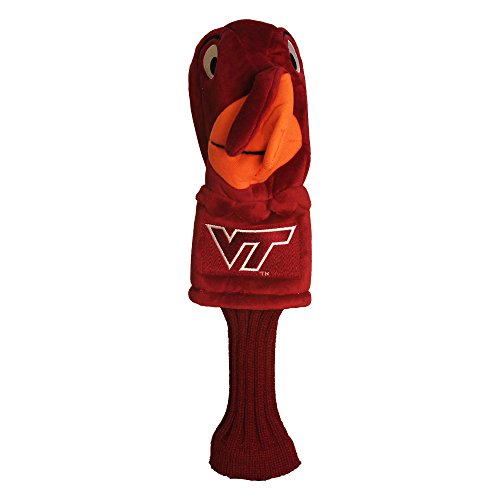 Team Golf NCAA Virginia Tech Hokies Mascot Golf Club Headcover, Fits most Oversized Drivers, Extra Long Sock for Shaft Protection, Officially Licensed ()