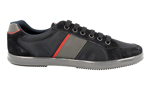 Prada Heren 4e3043 Oqt F0008 Lederen Sneaker