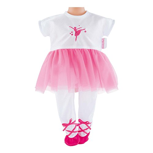 "Corolle Dmv82 Fuschia Ballerina Outfit For 12"" Dolls - New,"