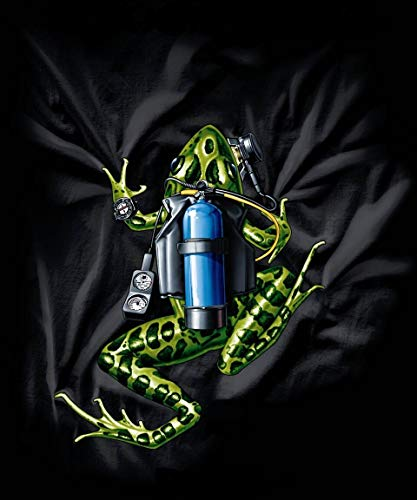 Amphibious Outfitters T-Shirt - Scuba Frog - Black - Diving