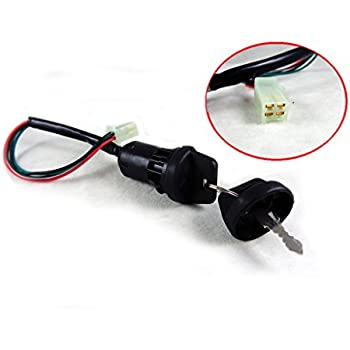 4 wire ignition key switch with 2 keys for. Black Bedroom Furniture Sets. Home Design Ideas