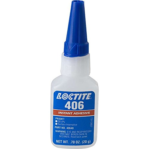 406 Prism Wicking Grade Surface Insensitive Instant Adhesive, Clear, 20 g Bottle