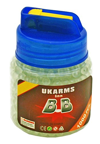 1000 GLOW IN THE DARK ukarms 6mm .12g Airsoft BBs Pistol Gun Sniper Rifle AMMO (Glow In The Dark Airsoft Bbs)