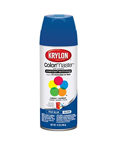 Krylon 51910 True Blue Interior and Exterior Decorator Paint - 12 oz. Aerosol