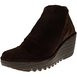FLY London Women's YIP Ankle Bootie, 001 Expresso Oil Suede, 38 M EU (7.5-8 US)