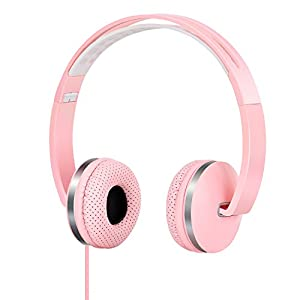 Gorsun Lightweight Sport Headphones with Soft Sweat Proof Earpads – Pink