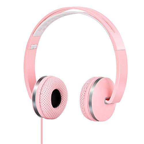 Gorsun Lightweight Sport Headphones with Soft Sweat Proof Earpads – Pink