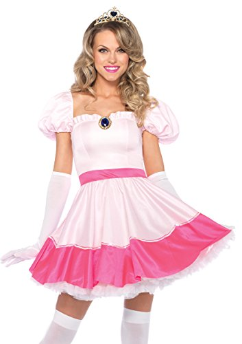 Leg Avenue Women's Plus-size 3Pc. Princess Off The Shoulder Dress Tiea And Gloves Adult Costume, pink, X-LARGE