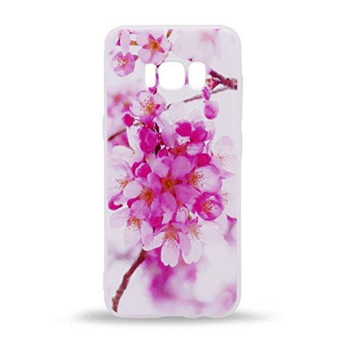 (IMIFUN 3D Relief Flower Silicon Phone Case for Samsung Galaxy S8 Romantic Rose Floral iPhone Cases Soft TPU Cover (Rosemary Flowers))