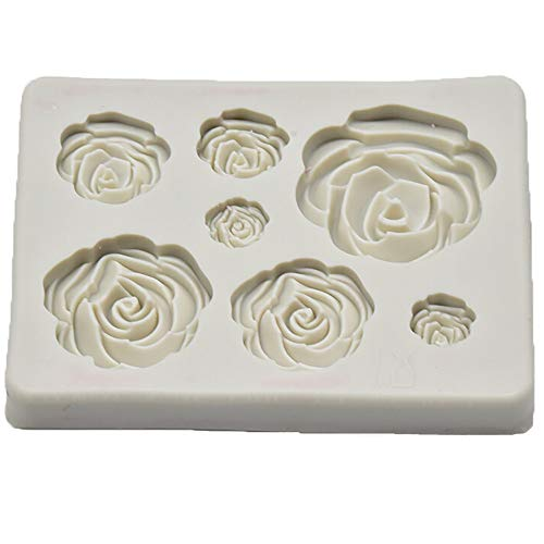 Newkelly Cake Decorating Rose Flower Silicone Mold Fondant Mold Tools Chocolate Mold
