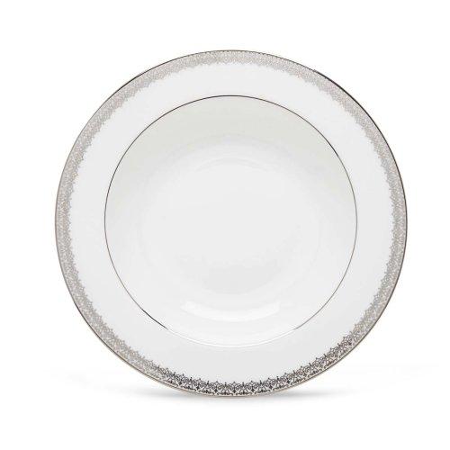 Platinum Rim Soup Plate - Lenox Lace Couture Pasta/Rim Soup