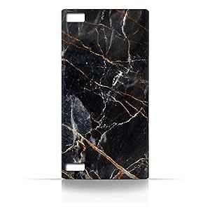 AMC Design BlackBerry Z3 Dark Grey Marble Texture Case - Multi Color