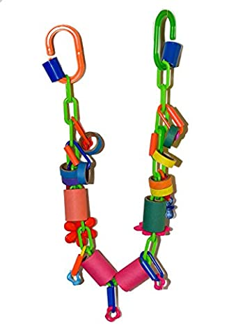 Parrot Kook 26 Inches of Chaos Bird Toy for conures african grey parrot toy - Cha Chains