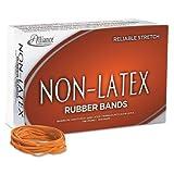 Non Latex Orange Rubber Bands, Size 33, 3-1/2 x 1/8, 850/Box, Sold as 1 Pound