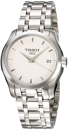 - Tissot Women's T0352101101100 Couturier Analog Swiss Quartz Silver Stainless Steel Watch
