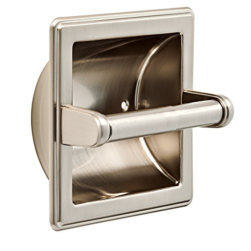 Stone Harbor Hardware, Lakewood Wall Mounted Recessed Paper Holder, Satin Nickel, 4207-15 30%OFF
