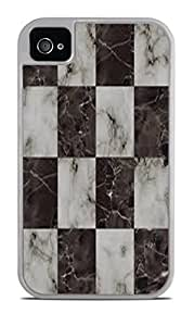 Marble Chessboard White 2-in-1 Protective Case with Silicone Insert for Apple iPhone 4 / 4S