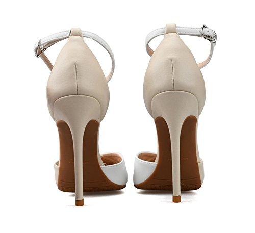 Talon Pompes Mi Sangle De Abricot Femmes Court Bureau Cheville Pointu Chaussures À Haut Bureau Travail ZPL Partie La Bout axSYwqnwH