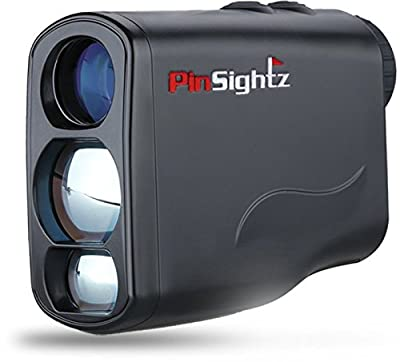 PinSightz Golf Rangefinder - Laser Range Finder 2018 - Vibration Lock Technology, Horizontal and Vertical Measurements - Scan - 7 Total Modes. Great for Golf Hunting Racing - Free Case and Battery by PinSightz
