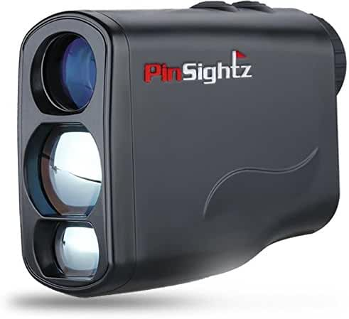 PinSightz Digital Laser Rangefinder. Perfect for Golf, Hunting and Racing. With Horizontal Distance and Vertical Height Measurements. Speed and Scan Mode, Distance Correction Function. Free Battery