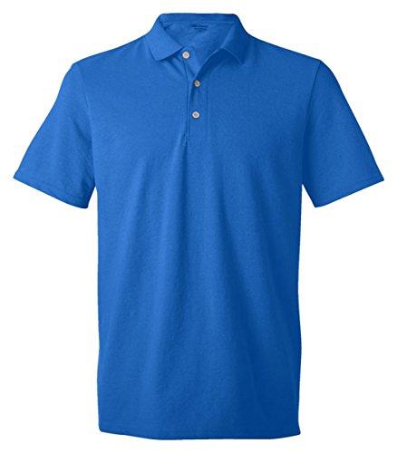 (Gildan Mens 6.5 oz. DryBlend Pique Sport Shirt (G948) -Royal -XL)