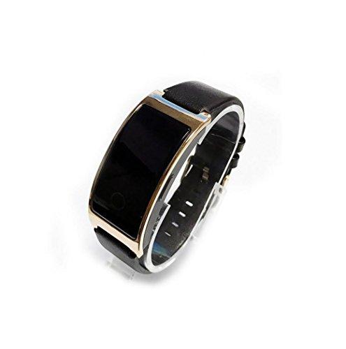 Smart Bluetooth Bracelet Watch Heart rate Blood Pressure Sleep Monitor Step Calorie Sports Bracelet , black by GJX