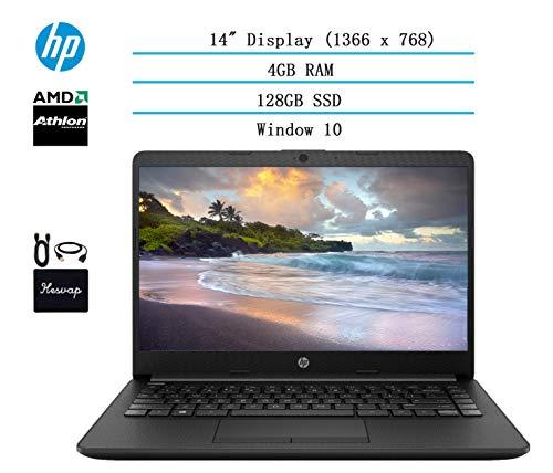 2020 HP 14 inch HD Laptop Newest for Business and Student, AMD Athlon Silver 3050U (Beat i5-7200U), 4GB DDR4 RAM, 128GB…