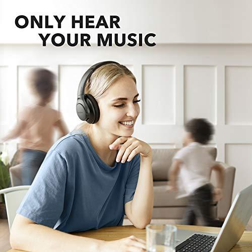Anker Soundcore Life Q20 Fone de ouvido híbrido com cancelamento de ruído ativo, fones de ouvido Bluetooth sem fio, 40…