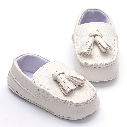 Image of Estamico Baby Boys' Sneakers Faux Leather Loafers Soft Flat Boat Shoes