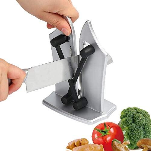 キッチン手動削り研ぎキッチンナイフ第一選択研磨鋸歯状、面取り、標準的なブレードキッチンツールテレビで見られるように,Silver