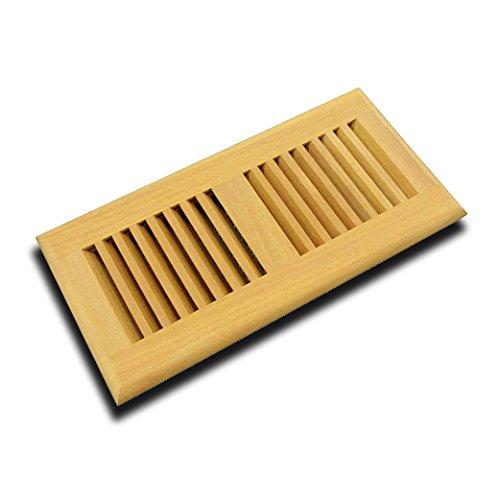 WELLAND Santos Mahogany Hardwood Insert Vent, Floor Register Self Rimming Unfinished (Santos Mahogany, 2 x 12 inch)