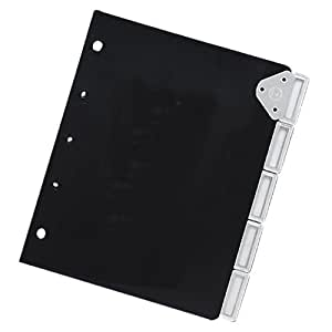 Master Catalog Rack Index Set, Ideal for Protecting and Organizing Materials in Catalog Racks, Black/Silver (MATB6125M)