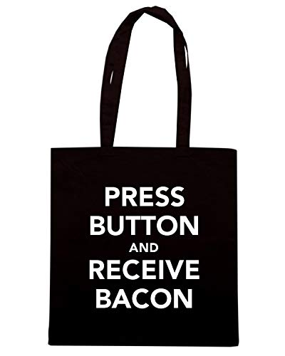 CALM TKC0947 AND Shopper BUTOON KEEP Nera Shirt RECEIVE Speed AND BACON Borsa PRESS wxqvfYEU