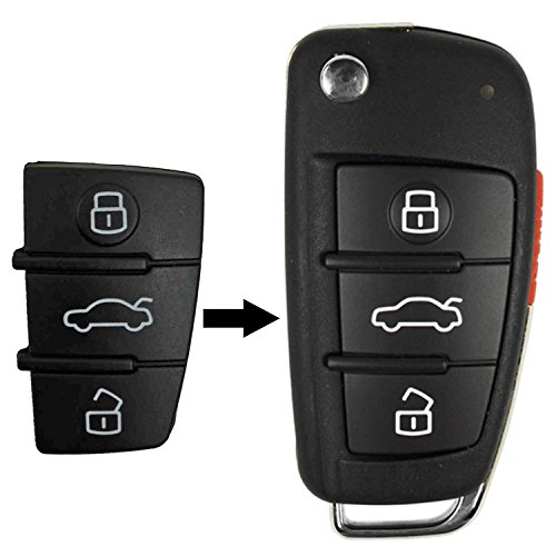 qualitykeylessplus Replacement Remote Head Key 2 Button Case and Pad for Land Rover FCC ID NSFVALTX3