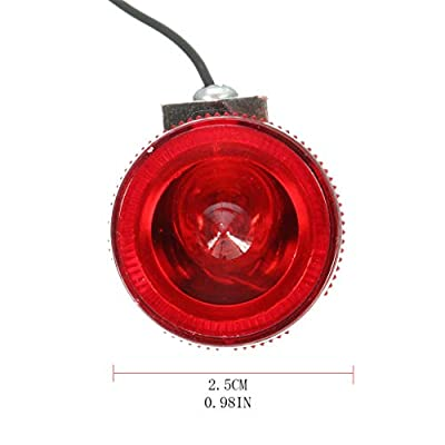 PQPQPART Aluminum Vintage Classic Bicycle LED Rear Tail Light Steel City Road Bike Retro : Sports & Outdoors