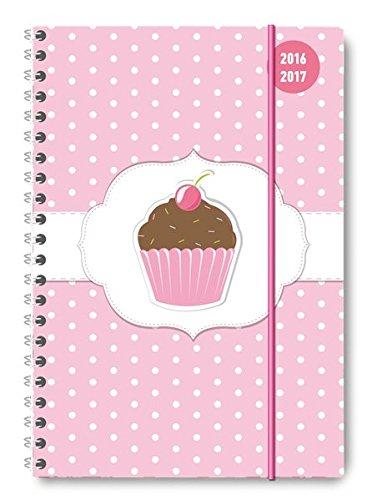 Collegetimer Cupcake 2016/2017 - Schülerkalender A5 - Weekly - Ringbindung - 224 Seiten