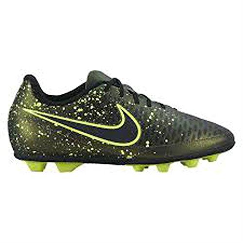 Nike Jr Magista Ola Fg-r, Zapatillas de Deporte para Niñas Negro / Verde (Dark Citron / Drk Citron-Blk-Vlt)