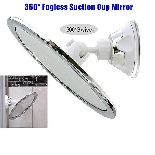Fogless Makeup Mirror With Holder Suction Cup 360 Rotation Shower Shave Mirrors MOSTOP
