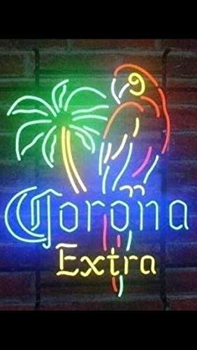 """Urby Brand New 17"""" Neon Sign Beer Bar Pub Man Cave Business Glass Neon Lamp Light FD (Corona Extra Parrot 117CEP)"""