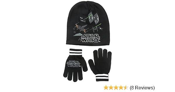 e6f26a915ba Amazon.com  Star Wars Big Boys  Episode 7 The Force Awakens Beanie and  Glove Set